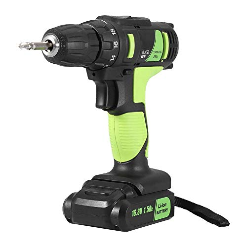 JF-XUAN Cordless Electric Drill Electric Drill 16.8V Rechargeable Cordless Electric Screwdriver Handheld Professional Tool(UK Plug)