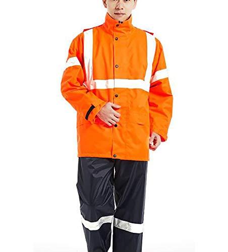 Yuyudou Ademende regenjas voor heren, fiets-regenkleding, waterdichte regenjas - voor fietsen