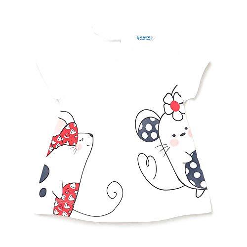 Camiseta m/c Mayoral Niña Blanco Ratita (6 meses)