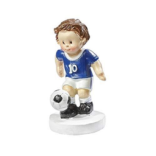 Fußballer blau/weiß ca. 5 cm Torten/Tischdeko