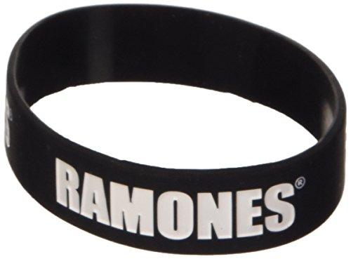 Ramones Black Wristband Gummy Rubber Bracelet Band Logo Name Gift Official