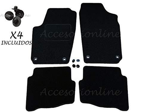 Accesorionline Alfombrillas Seat Ibiza 2002-2008 con Acabado Ibiza alfombras esterillas 6L
