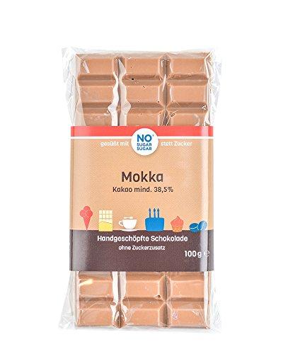 NO SUGAR SUGAR | Mokka Schokolade (100 g) vom Konditor, zuckerfrei