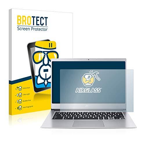 BROTECT Panzerglas Schutzfolie kompatibel mit Acer Chromebook 514 - AirGlass, extrem Kratzfest, Anti-Fingerprint, Ultra-transparent