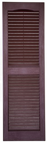 Perfect Shutters IL541471260 14-1/2-Inch by 71-Inch Louver Exterior Decorative Shutter, 1-Pair, Burgundy