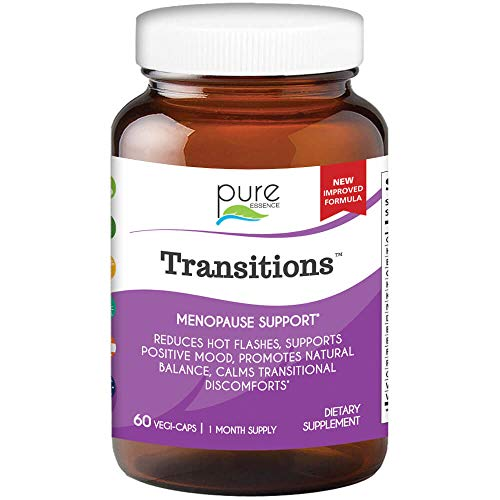 Pure Essence Labs Transitions - Vitamins for Women - Natural Menopause Relief Supplement - Promotes Hormone Balance, Reduces Hot Flashes, Mood Swings, Night Sweats (60 Capsules)
