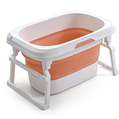 catch-L Bañera Plegable para Niños Lavabo para Ducha para Niños Baño para El Hogar Bañera Grande Bañera Plegable Portátil(Size:77X51cm,Color:Naranja)
