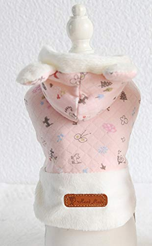 Lanyar Hundepullover mit Schneeflocken-Motiv, Rosa, X-Small, Rose