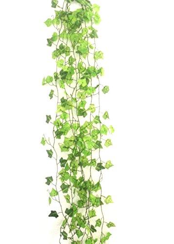PJ Planta Artificial Colgante Hojas de la Planta decoración de la Pared,6 Unidades