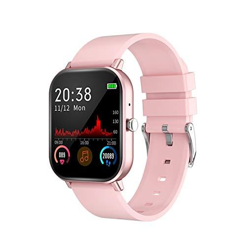XUEXIU Smart Watch Wireless Bluetooth HD Call Touch Color Pantalla De Color Smart Pulsera Tasa del Corazón Monitor De La Presión Arterial Pulsera Deportiva (Color : 01 Pink)
