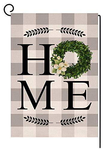 Mejor AVOIN Home Sweet Home Garden Flag Vertical Double Sided Floral Love Heart, Navy Blue Flower Rustic Modern Farmhouse Yard Outdoor Decoration 12.5 x 18 Inch crítica 2020