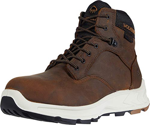 WOLVERINE Men's Shiftplus Work Lx 6' Alloy-Toe Boot Industrial brown Size: 11.5 X-Wide