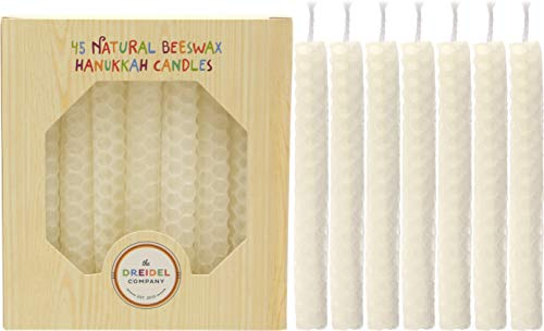 Hanukkah Candle Natural Honeycomb Beeswax White - 4.5