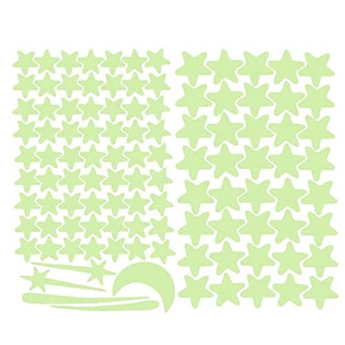 Onsinic Pegatinas De Pared Fluorescente Estrellas Brillantes Vinilos Decorativos para La Sala De Dormitorio De Techo Decoración del Hogar