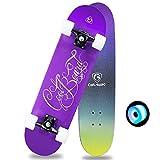 Fessional kinder skateboard 31 x 7 cm long board doppelschicht deck 7 schicht ahorn konkav komplett...