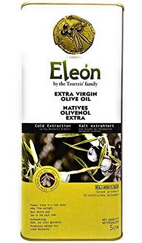 Olivenöl 5 Liter aus Griechenland 0,3{8abcd6087527103aee9c2c881b848d23118b803eb366b47104b39428f1b000aa} \'\'ELEON by Tzortzi\'s Family\'\' Extra Vergine-Kaltgepresst ,Extra Nativ,PREMIUM, über 100 Jahre Olivenöl-Tradition. Einführungspreis zum Kennenlernen