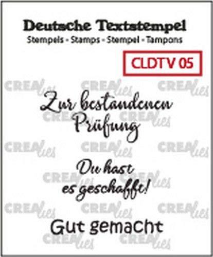 Unbekannt Crealies Clearstempel Textstempel CLDTV05, Verschiedene 05 - Prüfungen (Various - Examination)
