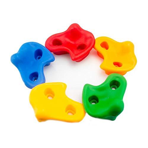 ZHIXX MALL10 Stück Klettergriffe ,Kinder Kunststoff Felsensteine Robuste Klettersteine für DIY Kletterwand Spielturm Kletterwände ,Farbe zufällig