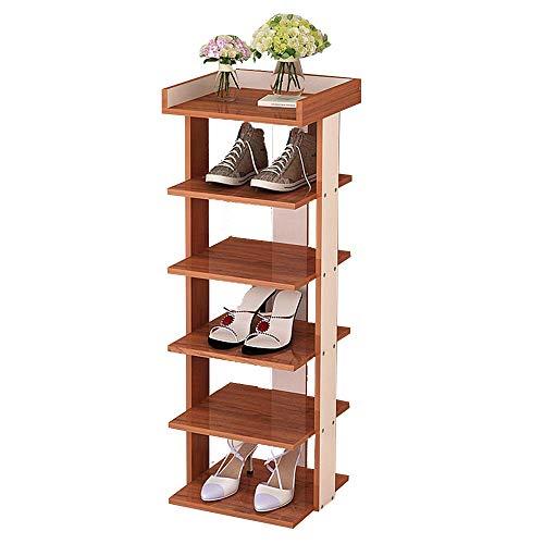 ZAIHW Zapatero Estantes de Almacenamiento de Zapatos de 4/5/6/7 Niveles Organizador de estantes multifunción de Estilo clásico Plano Independiente (tamaño: 6 Niveles)