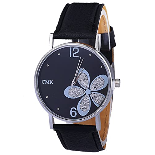 VusiElag Reloj clásico de lujo para mujer con correa de cuero de cuarzo y correa de cuero redondo para niños y niñas, reloj analógico, reloj de pulsera para niños, regalo de cumpleaños (7 opciones)