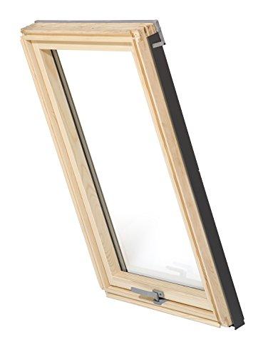 Dachfenster Balio Schwingfenster mit Eindeckrahmen und Rollo (Verdunkelungsrollo) 78x134 cm (VKR Konzern Rooflite Velux)