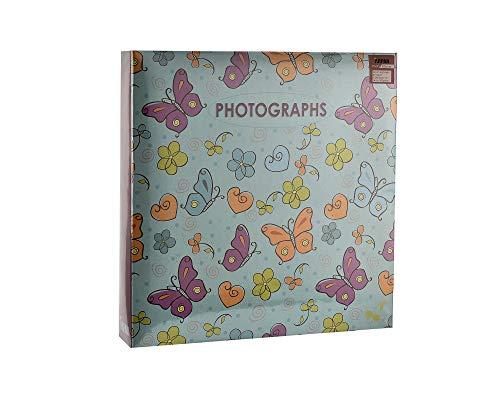 ARPAN Álbum 3 Anillas con Capacidad para 500 Fotos de 15 x 10 cm, para Bodas, cumpleaños de bebé, diseño de Mariposa, 34 x 33 x 4 cm