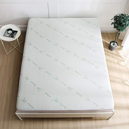 Soft Bamboo Waterproof Mattress Protector/Topper 38cm Fully Fitted Skirt (King)