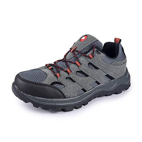 GBZLFH Calzado para correr al aire libre, Calzado deportivo senderismo para hombres, Calzado informal para caminar, Ligero resistente al desgaste, Adecuado para escalar montañas y acampar,Gris,50