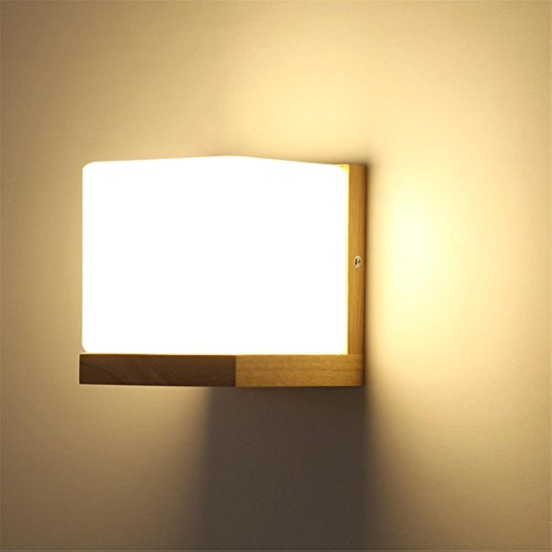 StiefelU LED Wandleuchte nach oben und unten Wandleuchten Wandleuchte Massivholz Wohnzimmer Balkon Schlafzimmer Nachttischlampe (nicht Dekorationen gehren), 14 x 14 x 14 cm