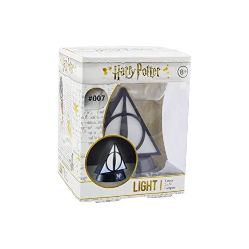 Harry Potter 3D Leuchte Icon Light Deathly Hallows schwarz/weiß, bedruckt, aus Kunststoff, in Geschenkverpackung.