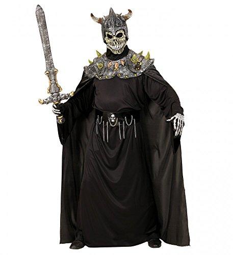 shoperama Calavera Warlord Horror Máscara con Tanque Hombro y Capa Halloween Disfraz Calavera