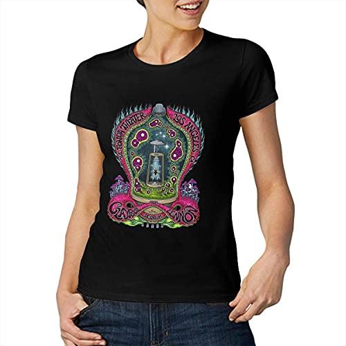 Claypool Lennon Delirium Woman's Tops Short Sleeve T-Shirts Black Stylish T-Shirt