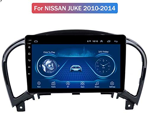 WYFWYT Android 8.1 GPS Navigation Radio TV, 9 Zoll Full Touch Screen Autoradio, für Nissan Juke 2010-2014 YF15 Infiniti ESQ 2011-2017, mit DAB + CD DVD Lenkradkontrolle Bluetooth,4g Wife:2g+32g