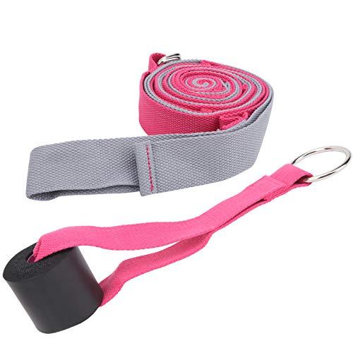 Asixxsix Cinturón de Estiramiento de Danza, Correa de tracción de Danza Duradera, Yoga para Danza(Gray Pink)