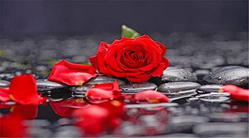 Diamond Painting 5D DIY Flower Rose Cuadrado Taladro Completo Pintura por Numeros Diamantes Bordado Punto de Cruz Kits Arte Lienzo Mosaicos Manualidades 40x80cm