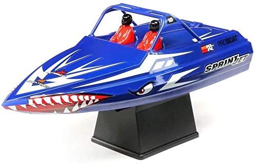 Paelf 23 cm Control Remoto Cepillado Mini Jet Boat Restablecer automáticamente RTR 2.4GHz Control Remoto eléctrico Cepillado Pequeño Chorro pequeño, RTR de reinicio automático al anular, Engranaje de