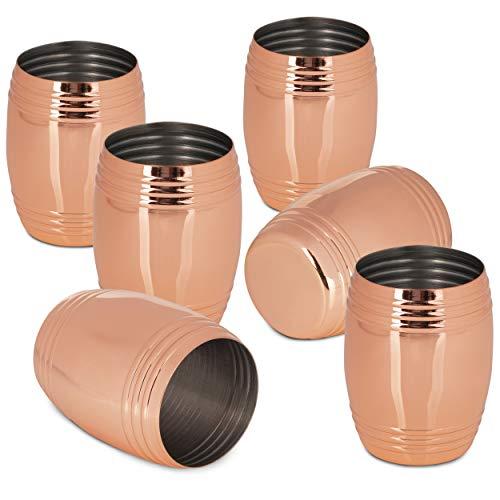 ONVAYA® Vaso de chupito 6er set   Alfileres con capacidad de 4 cl.   Los vasos de chupito de acero inoxidable con revestimiento de cobre   Shots cobrizo   Moscow Mule Design
