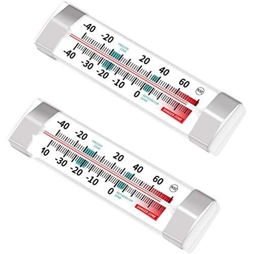 Suszian Termómetro para frigorífico, 2 Unidades, termómetro para frigorífico, congelador, para frigorífico,...