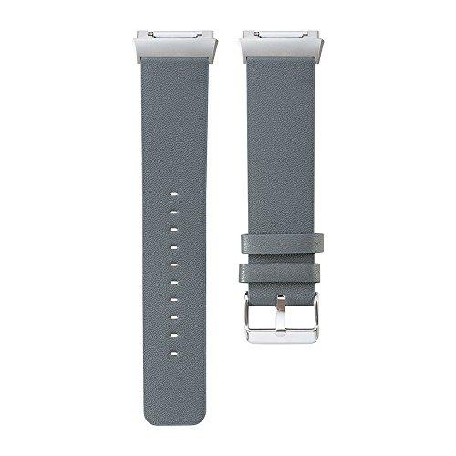 Correa de recambio para reloj inteligente Fitbit Ionic, acero inoxidable con ajuste de imán, unisex, color azul