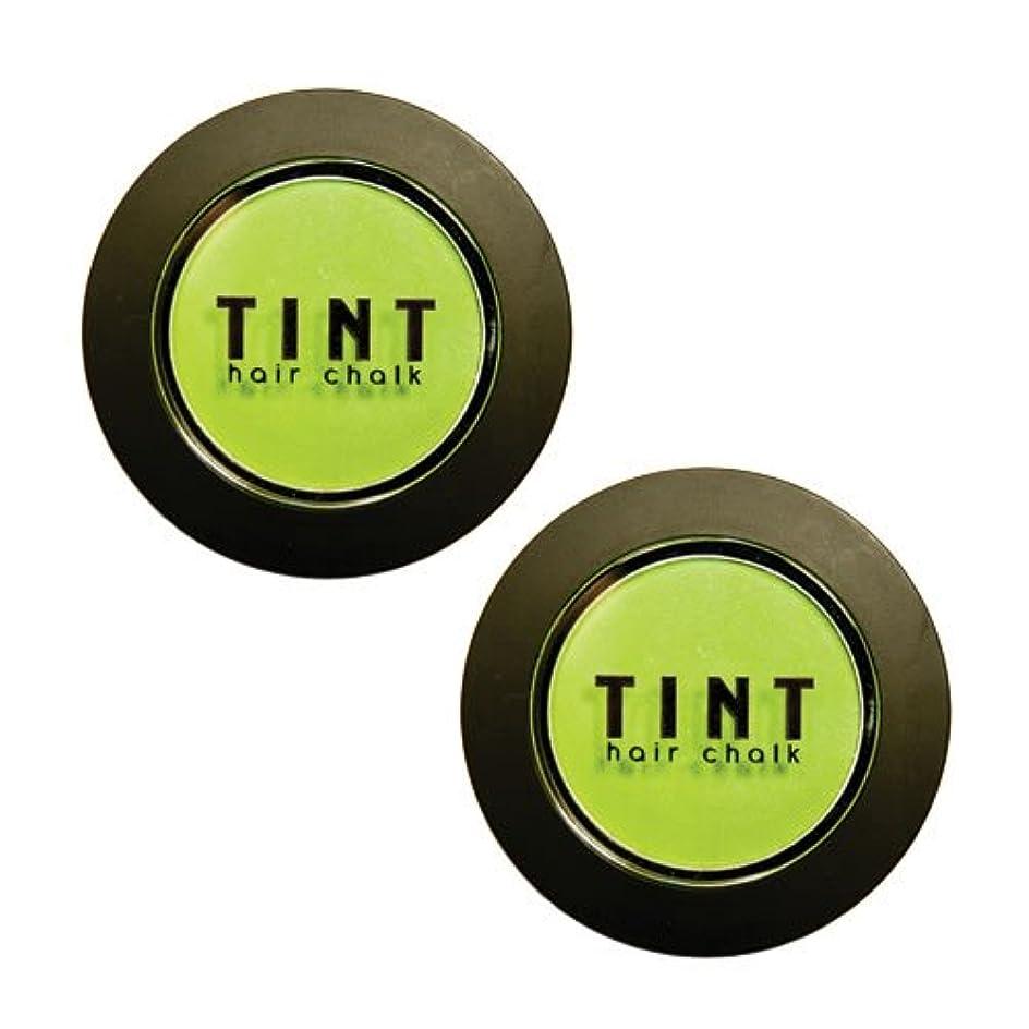 店主パノラマ石膏FINE FEATHERHEADS TINTヘアチョーク Luscious Lime 2個セット