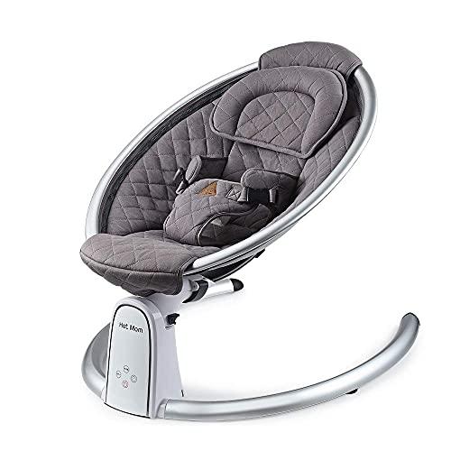 Hot Mom Babyschaukel tragbare Babywippe Baby Sitz, Babyswing, 2021 Dark Gray