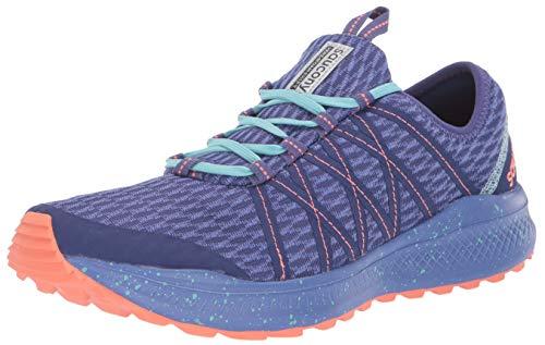 Saucony Women's VERSAFOAM Shift Road Running Shoe, Blue/Coral, 5 M US