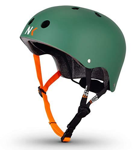 NTNK N11 Green · BMX Fahrrad-Helm Skater E-Roller Inliner Scooter · Kinder & Erwachsene · S (48-52cm)