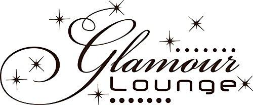 GRAZDesign Wandtattoo Steine selbstklebend Beauty/Salon, Swarovski Aufkleber Glamour Lounge, Wandtattoo Schminktisch Deko / 121x50cm