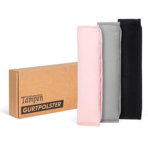 Tampen Gurtpolster Set · 2 Stück · für Erwachsene und Kinder · hochwertig verarbeitet · universelle Größe · Maschinenwaschbar · Doppelpack · Schwarz