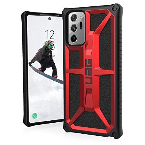 Urban Armor Gear Monarch Hülle Samsung Galaxy Note20 Ultra (5G) (6,9'' Zoll) [Offiziell Designed for Samsung Zertifiziert, 5-Schichten-Schutz, Wireless-Charging (Qi) kompatibel] rot (Crimson)