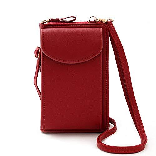 Bolso para teléfono celular, de piel sintética, bolso cruzado pequeño, bolso de hombro, bolso de mano, bolsillos para teléfono para mujer