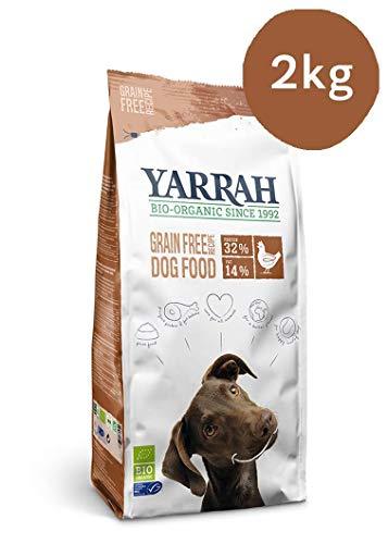 Yarrah Nahrhaftes Bio-Trockenfutter für Hunde – für alle Hunderassen und Altersgruppen | Exquisite Biologische Hundebrocken mit Huhn, 2kg | 100% biologisch, getreidefrei & frei von künstlichen Zusätzen