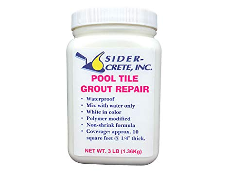 Sider Pool Tile Grout Repair - 3 lb - White