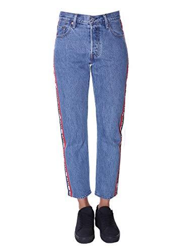 Levis Damen Crop Jeans 501 ORIGINAL 36200-0113 Blau, Hosengröße:29/28